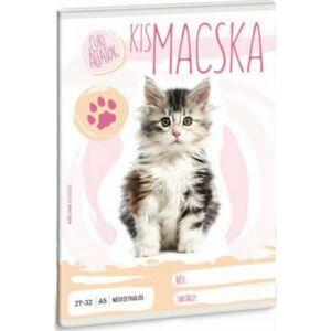 Füzet 27-32 A5 kockás Ars Una Cuki állatok kollekció kismacska 21' Prémium minőség