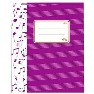 Füzet 36-16 A5 hangjegy hagyományos 32lapos Fortuna
