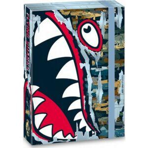Füzetbox A5 cápa 20' Flying Shark - Ars Una iskolaszezonos füzet, könyv tárolók