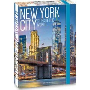 Füzetbox A5 gumis Cities - New York '19 Ars Una dosszié kollekció