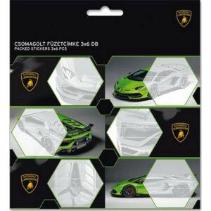 Füzetcímke 3x6db Ars Una Lamborghini - autós kollekció