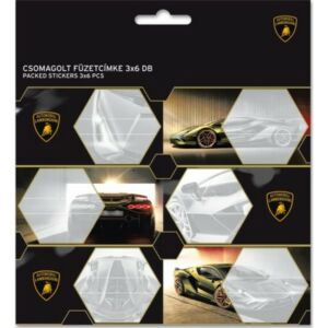 Füzetcímke 3x6db Ars Una Lamborghini (5066) 21 Csomagolt kollekció