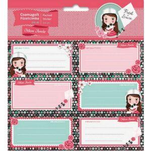 Füzetcímke 3x6db Ars Una Mon Amie Szíves - hintás 18' csomagolt kollekció