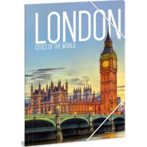 Gumis mappa A4 Ars Una Cities-London 21' Prémium minőség