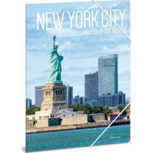 Gumis mappa A4 Ars Una Cities-New York 21' Prémium minőség