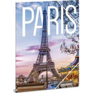 Gumis mappa A4 Ars Una Cities-Paris 21' Prémium minőség
