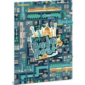 Gumis mappa A4 Budapest 19' City of Budapest - Budapest - Ars Una iskolaszezonos gumis dosszié kollekció