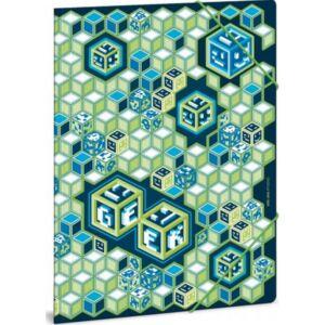 Gumis mappa A4 kockás Geek 21' Ars Una kollekció gumis dosszié