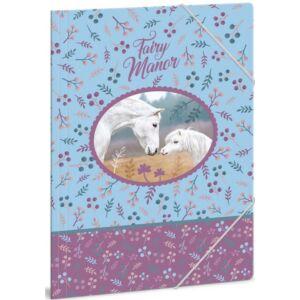 Gumis mappa A4 Lovas 18' Fairy Manor tündérvilág lovas - Ars Una iskolaszezonos gumis dosszié kollekció