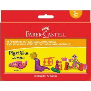 Faber-Castell gyurma Jumbo 12db neon szín (plpjn-12) prémium minőségű termék 120822