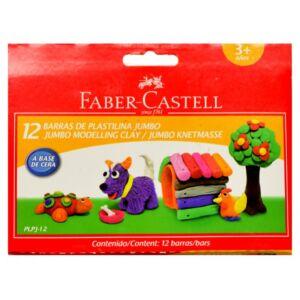 Faber-Castell gyurma Jumbo 12db plasztik élénk színek prémium minőségű termék