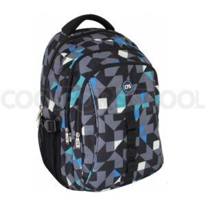 Hátizsák CFS Cool for School Szürke-fekete-fehér-kék színű, geometria iskolaszezonos termék