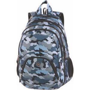 Hátizsák Pulse 2in1,notebook tartóval és audió csatlak. Teens Grey Army, katonai minta