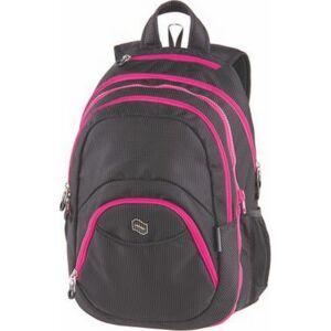 Hátizsák Pulse 2in1,notebook tartóval és audió csatlak. Teens, pink-fekete