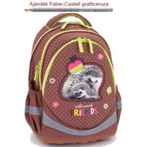 Iskolatáska Ars Una ergonómiku Erdő-TÜSKEBÖKI SüniS/Hedgehog 17 Hátizsá Anatómiai - M hátizsák prémium minőség