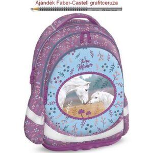Iskolatáska Ars Una ergonómiku Fairy Manor Anatómiai - M hátizsák prémium minőség 06.15től készleten