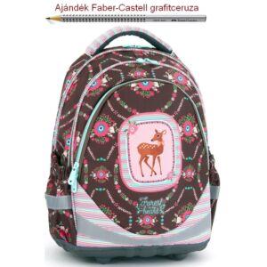 Iskolatáska Ars Una ergonómiku Forest in my heart 18' Hátizsák kamaszok Anatómiai - M hátizsák prémium minőség