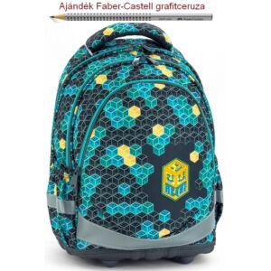 Iskolatáska Ars Una ergonómiku Geek (807) 18' Hátizsák kamaszoknak Anatómiai - M hátizsák prémium minőség