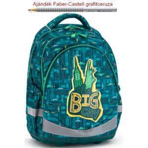 Iskolatáska Ars Una ergonómiku Tha Big City - nagyváros (843) 18' Hátiz Anatómiai - M hátizsák prémium minőség