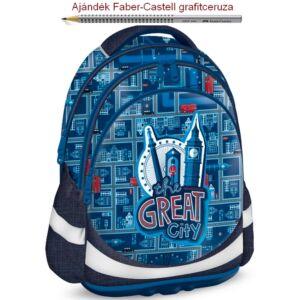 Iskolatáska Ars Una ergonómiku The Great City - Város 19 Hátizsák kamas Anatómiai - M hátizsák prémium minőség