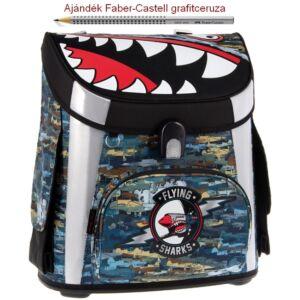 Iskolatáska Ars Una kompakt 20 Flying Shark kompakt mágneszáras Prémium kollekció