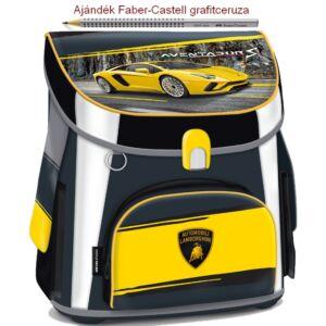 Iskolatáska Ars Una kompakt Lamborghini Hátizsák kamaszoknak 18' kompakt mágneszáras Prémium kollekció
