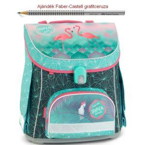 Iskolatáska Ars Una kompakt Tropical Pink Flamingós 19 kompakt mágneszáras Prémium kollekció