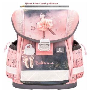 Iskolatáska Belmil ergonómikus 21' Classy  Ballerina Black Pink 403-13 36x32x19 kb. 19l - 900g