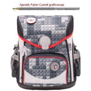 Iskolatáska Belmil ergonómikus 21' Cool Bag Bricks Grey 405-42 405-42 35x28x23cm kb. 19l - 1000g