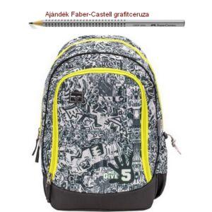 Iskolatáska Belmil ergonómikus 21' Pack It  Give me 5 338-79 43x27x19cm kb. 19l 480-505g