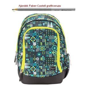 Iskolatáska Belmil ergonómikus 21' Pack It  Modern mosaic 338-79 43x27x19cm kb. 19l 480-505g