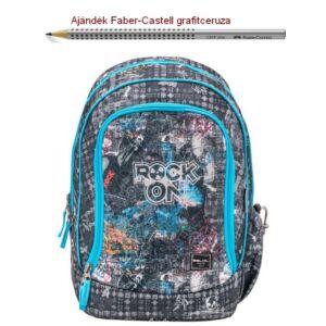 Iskolatáska Belmil ergonómikus 21' Pack It  Rock on 338-79 43x27x19cm kb. 19l 480-505g