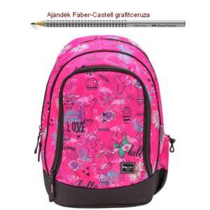 Iskolatáska Belmil ergonómikus 21' Pack It  Tropical Flamingo 338-79 43x27x19cm kb. 19l 480-505g