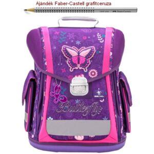 Iskolatáska Belmil ergonómikus 21' Sporty Dreams Of Butterfly 404-5 38x32x21cm kb. 22l - 950-1000g