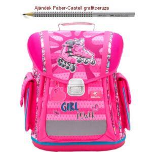 Iskolatáska Belmil ergonómikus 21' Sporty Girl Power 404-5 38x32x21cm kb. 22l - 950-1000g