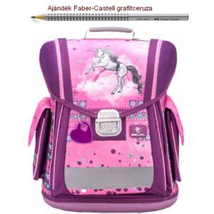 Iskolatáska Belmil ergonómikus 21' Sporty Pinky Unicorn 404-5 38x32x21cm kb. 22l - 950-1000g