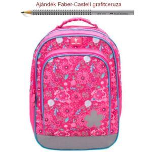 Iskolatáska Belmil ergonómikus Speedy Pink Flowers 338-35 40x27x22cm kb. 22l - 700g