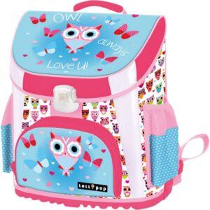 Iskolatáska ergonómikus bagoly Lollipop Blue Owl 18' Premium anatómiai táska Lizzy kollekció