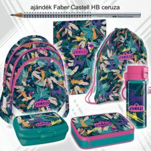 Ars Una iskolatáska szett 21' Jungle iskolatáska,tolltartó,tornazsák kulacs, uzsonnásdoboz, gumis mappa 08-23