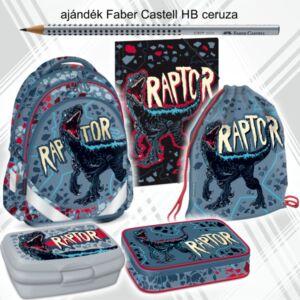 Iskolatáska szett Ars Una 21' Raptor iskolatáska,tornazsák,tolltartó kulacs, uzsonnásdoboz, gumis mappa
