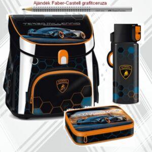 Iskolatáska szett Ars Una Lamborghini kulacs, iskolatáska, tolltartó