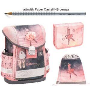 Iskolatáska szett Belmil 21' iskolatáska - tolltartó - tornazsák Ballerina Black Pink