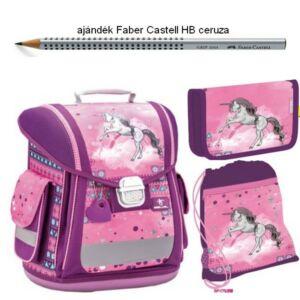 Iskolatáska szett Belmil 21' iskolatáska - tolltartó - tornazsák Sporty 404-5 Pinky Unicorn - unikornis