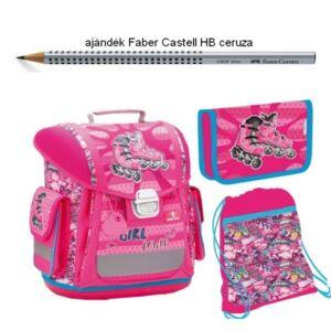 Iskolatáska szett Belmil 21' iskolatáska - tolltartó - tornazsák Sporty 404-5 Girl Power