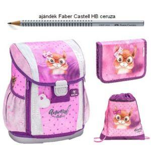 Iskolatáska szett Belmil 21' iskolatáska - tolltartó - tornazsák Sweet Squirrel