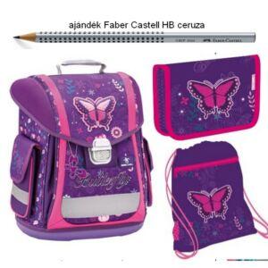 Iskolatáska szett Belmil 21' iskolatáska - tolltartó - tornazsák Sporty 404-5 Dreams Of Butterfly