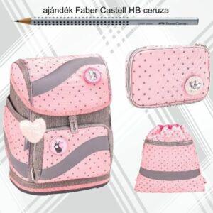 Iskolatáska szett Belmil 21' iskolatáska tolltartó tornazsák Heart Pink Dots