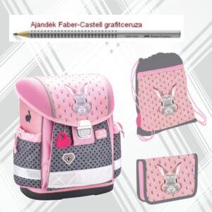 Iskolatáska szett Belmil 21' iskolatáska tolltartó tornazsák Bunny-nyuszis