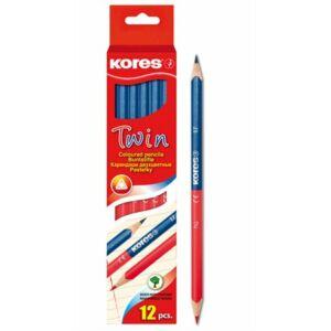 Postairon piros-kék Kores Twin háromszögletű vékony Írószerek KORES 94871