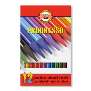 Lakkba foglalt Színes ceruza Koh-I-Noor 8756/12 készlet Progresso Művészeti termék - grafitrúd
